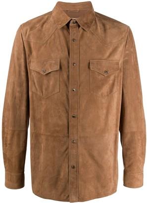 Brunello Cucinelli Western Suede Shirt