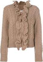 See by Chloe ruffled zip cardigan