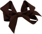 Marie Chantal Girls Medium Hair Bow - Brown