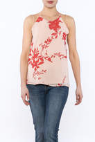 Sugar Lips Sugarlips Watercolor Sleeveless Blouse
