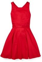 Ralph Lauren Crossback Cotton Satin Dress