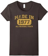 Børn Women's in 1977 Tshirt 40th Birthday Gifts 40 yrs Years Made in Small