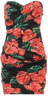 Dolce & Gabbana Floral stretch-cotton minidress