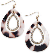 Thalia Sodi Gold-Tone Pavé & Tortoiseshell-Look Drop Earrings, Only at Macy's