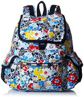 Le Sport Sac Voyager Back pack, Ocean Blooms Navy, One Size