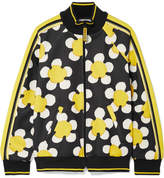 Marc Jacobs Striped Printed Tech-jersey Track Jacket - Yellow