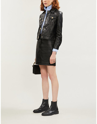 Claudie Pierlot Cropped leather jacket