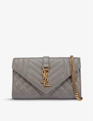 Saint Laurent Monogram small leather cross-body bag
