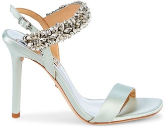 Badgley Mischka Lilly Embellished Stiletto Slingback Sandals