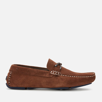Ted Baker Men's Cottn Suede Driving Shoes - Tan