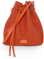 Glamorous Faux Suede Bucket Bag