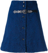 Sonia Rykiel buttoned a-line skirt - women - Cotton/Polyester/Brass - 36