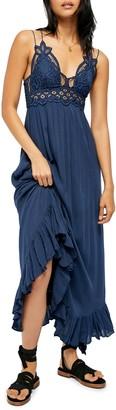 Free People Adella Lacy Maxi Slip Dress