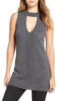Astr Women's Choker Detail Sleeveless Sweater