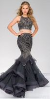 Jovani Sleeveless Two Piece Embellished Tulle Mermaid Dress