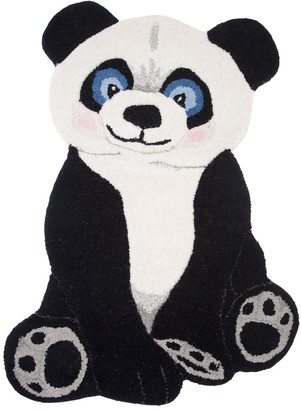 Panda Wool Rug For Lvr