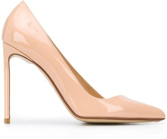 Francesco Russo Patent Asymmetric Pointed Toe 115mm Heel Pumps