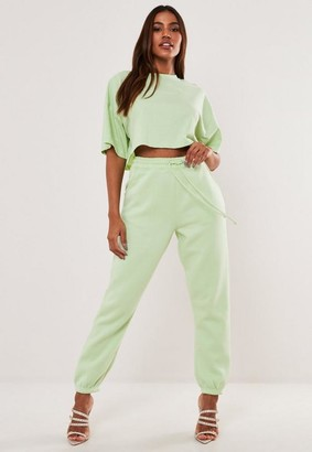 Missguided Green Oversized 90'S Joggers