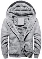 Rocky Sun Men Winter Hooded Jacket Hoodie Faux-Fur Lined Warm Coat XL