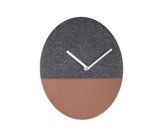 Present Time Grey Leather and Jeans Wall Clock - Leather / Jeans | grey - Grey/Grey