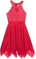 Rare Editions Embellished-Neck Dress, Big Girls