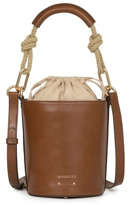 Vanessa Bruno Calfskin Leather mini Holly bucket bag