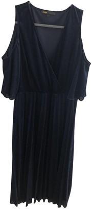 Maje Blue Velvet Dresses