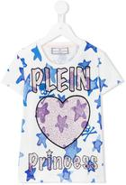 Philipp Plein Junior 'Heart Princess' T-shirt