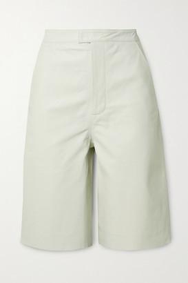 REMAIN Birger Christensen Manu Leather Shorts - White