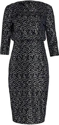 Badgley Mischka Velvet Sequin It Dress