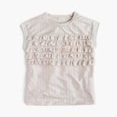 J.Crew Girls' shimmer ruffle T-shirt