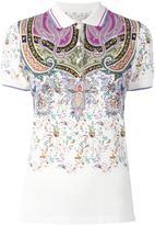 Etro abstract print polo shirt