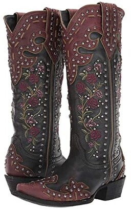 Old Gringo Double D Ranchwear By Double D Ranchwear by Round Up Rosie (Blue/Brass) Cowboy Boots