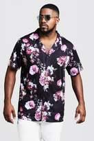 Big & Tall Cherub Print Revere Jersey Shirt