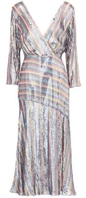 Rixo Tyra sequined wrap dress