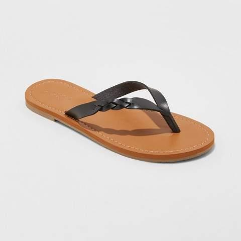 Universal Thread Women's Bobbie Braided Thong Flip Flop Sandals