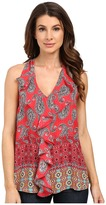 KUT from the Kloth Emma Printed Ruffle Front Top