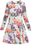Raoul Avalon Multicolour Printed Bonded-Lace Mini Dress