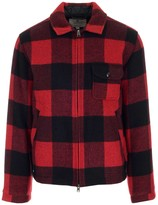 Woolrich Check Patterned Front Zip Jacket