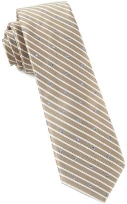 Tie Bar Arbor Stripe Champagne Tie