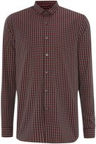 Peter Werth Men's Florey micro collar check shirt