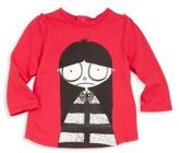 Little Marc Jacobs Baby's Miss Marc Graphic Portrait Tee-Shirt