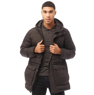French Connection Mens Parka Row 3 Jacket Black