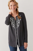 J. Jill Embroidered Shirttail Tunic