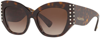 Valentino Acetate Crystal-Trim Butterfly Sunglasses