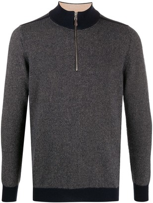 N.Peal Zipped Contrasting-Cuff Sweater