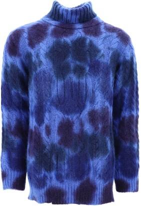 MONCLER GRENOBLE Printed Turtleneck Sweater