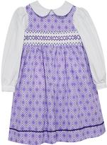 Lavender Arabesque Smocked Jumper & Tee - Toddler