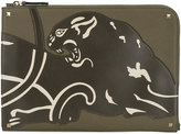 Valentino Garavani Valentino panther document case - men - Cotton/Leather - One Size