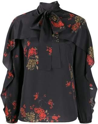 RED Valentino frilled floral blouse